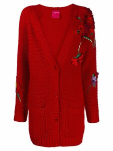 Blumarine floral cardigan - Red