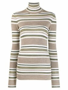Brunello Cucinelli horizontal stripes sweater - Brown