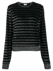 Saint Laurent metallic stripe jumper - Black