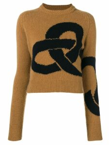 Victoria Beckham round neck jumper - Brown