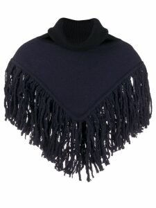 Sonia Rykiel cropped cape jumper - Blue