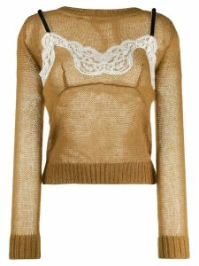 Nº21 two-layer knitted jumper - NEUTRALS