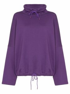 Martine Rose batwing-sleeve oversized sweatshirt - PURPLE