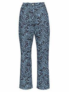 Miaou swirl print jeans - Blue