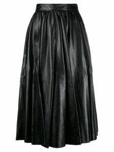 MSGM mid-length pleated skirt - Black