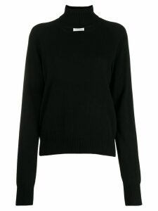 Maison Margiela cashmere neck hole jumper - Black