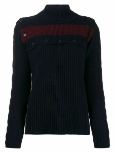Marni buttoned stripe detail jumper - Blue