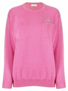 Brunello Cucinelli metal bead cashmere sweater - Pink