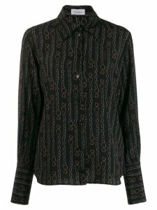 Salvatore Ferragamo printed shirt - Black