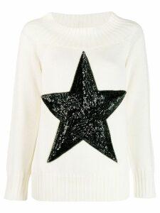 P.A.R.O.S.H. sequin star jumper - White