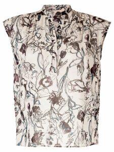 Tomorrowland floral print blouse - White