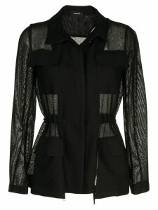 Akris chest pocket sheer shirt - Black