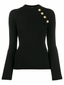 Balmain quilted effect knitted top - Black