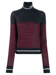 Nº21 striped turtle neck jumper - Red
