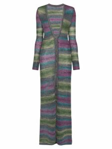 Jacquemus striped long cardigan - PURPLE