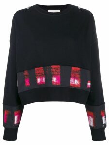 Alexander McQueen printed panels boxy sweatshirt - Black