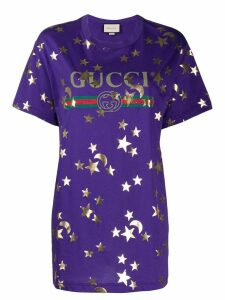 Gucci Stars and Moon-print T-shirt - Purple