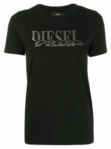 Diesel metallic foil logo T-shirt - Black