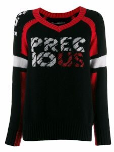 Ermanno Scervino knitted v-neck jumper - Black