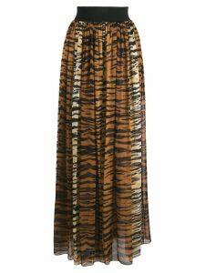 Alexandre Vauthier animal print skirt - Brown
