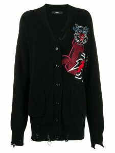 Diesel destroyed cardigan - Black
