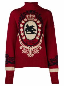 Etro contrast knit jumper - Red
