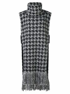 Oscar de la Renta houndstooth knitted top - Black