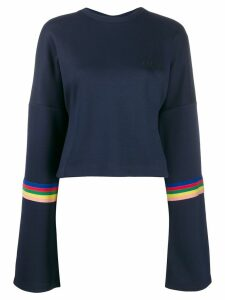 Être Cécile rainbow trim sweatshirt - Blue