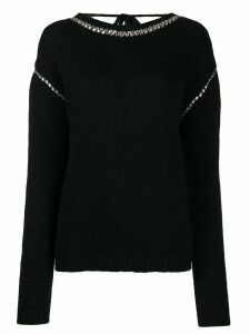 Rochas embellished jumper - Black
