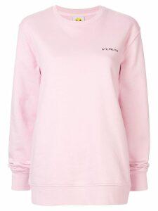 Yeah Right! bye, felicia sweatshirt - Pink