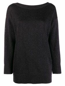 P.A.R.O.S.H. fine knit sweatshirt - Black