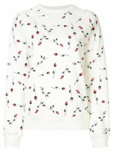 Adam Selman Sport rose pattern sweatshirt - White