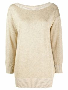 P.A.R.O.S.H. boat neck sweatshirt - Gold