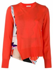 Emilio Pucci Vallauris Print Wool Jumper - ORANGE