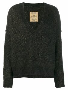 Uma Wang deconstructed knit sweater - Black