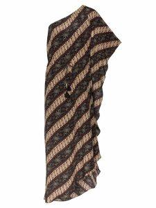 Figue Maisie batik-print striped dress - Javdi