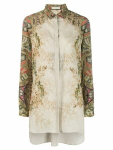 Etro printed sleeve blouse - Green