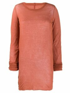 Rick Owens Larry long-sleeve T-shirt - PINK