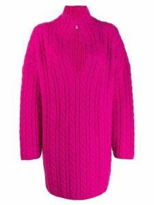 Balenciaga oversized cable-knit jumper - PINK