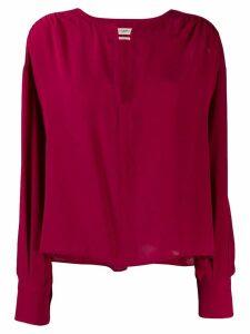 Isabel Marant Étoile cut-out detail silk blouse - PINK