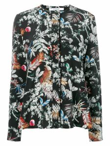 Derek Lam 10 Crosby wallpaper floral print blouse - Black