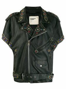 R13 embellished biker jacket - Black