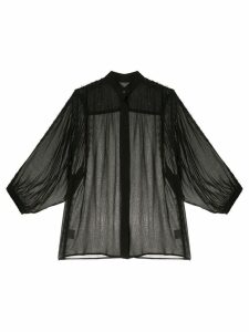 Manning Cartell semi-sheer shirt - Black
