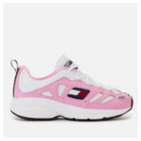 Tommy Jeans Women's Retro Chunky Runner Style Trainers - Pink Mist/White