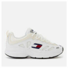 Tommy Jeans Women's Retro Chunky Runner Style Trainers - White - EU 39/UK 6 - White