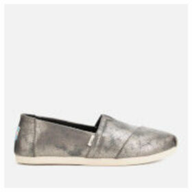 TOMS Women's Alpargata Slip-On Pumps - Dark Grey - UK 3
