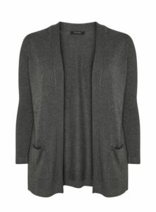 Grey Popper Cardigan, Grey