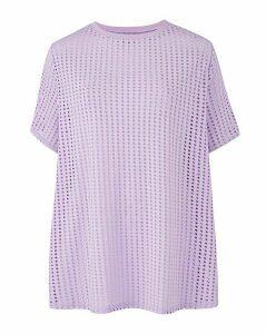Lilac Textured Mesh T-Shirt