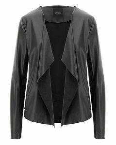 Black Waterfall PU Jacket
