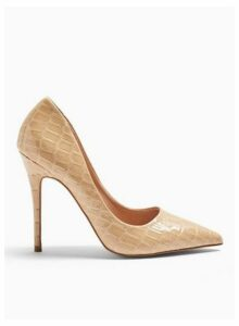 Womens Caterina Nude Pointed Stiletto Court Shoes, NUDE
